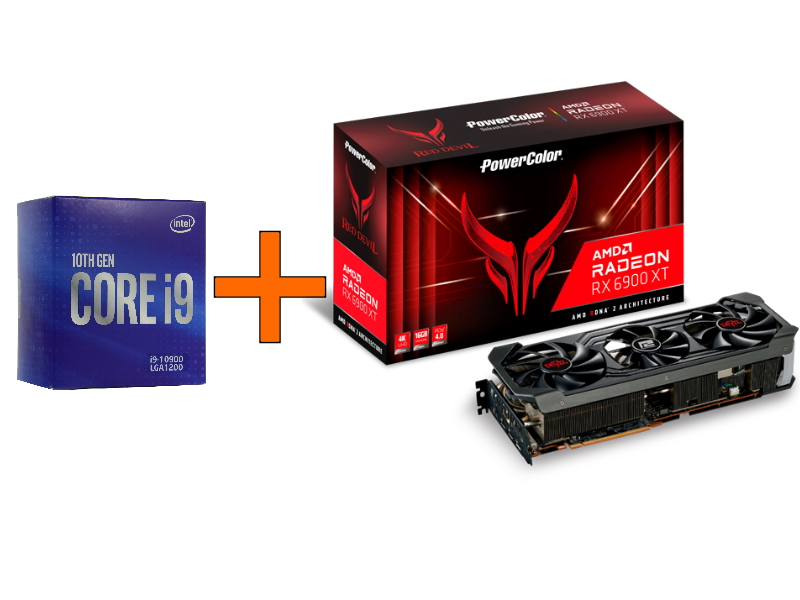 Набор AMD Radeon RX 6900 XT PowerColor 16Gb + Intel Core i9 - 10900 BOX
